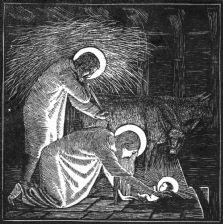 P076 The Nativity Christmas Card
